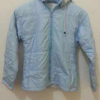 Blue paracute jaket
