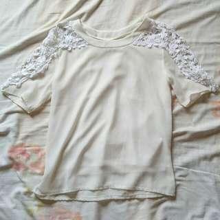 Korean lace sleeve too