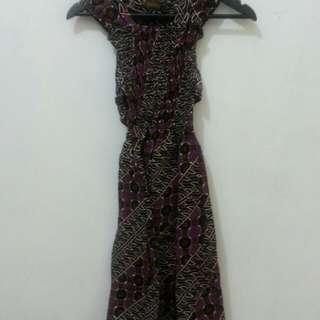 Violet batik dress