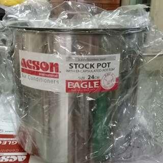 24cm stockpot stain steel