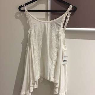 XS White Summer Top