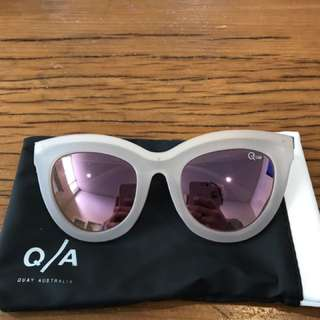 Quay Rose Gold Pink Sunglasses