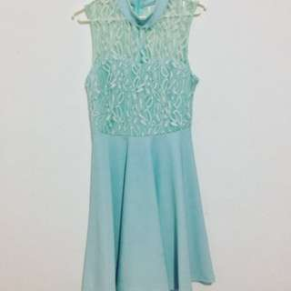 Chinese Collared Lace Dress