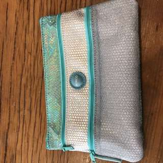Mimco 3 Zip Purse Cosmetic Bag Pencil Case