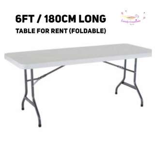 6ft / 4ft foldable table for rent