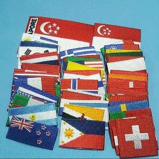 Iron On Patch/ Applique  ↪ World/ International Flag 🌐🗺  💱 (Mini/ XS) $1.90 to (L) $4.90 Each Piece
