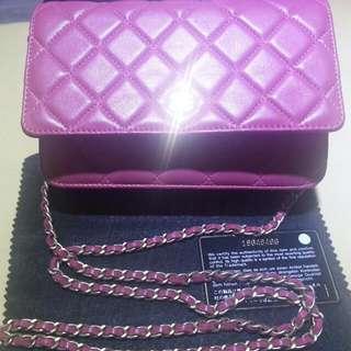 Chanel 桃粉红woc 8成新有盒有咭