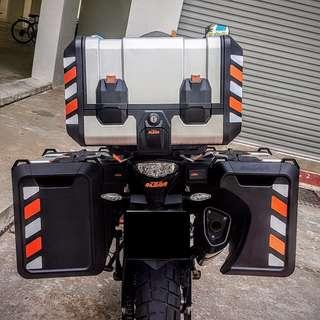 Top Case Reflective Stickers: KTM Adventure touring top case 42L & 73L Panniers