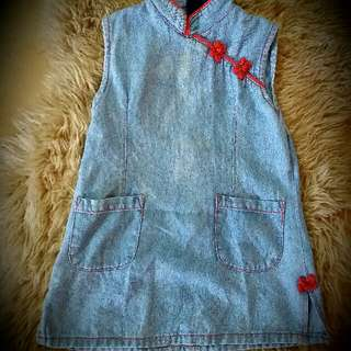 Jean dress for 3y