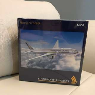 Brand New SIA Boeing 777 Aircraft Model
