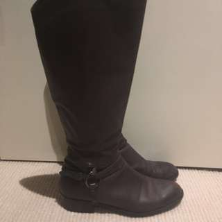 Fillippo Raphael Below The Knee Leather Boot