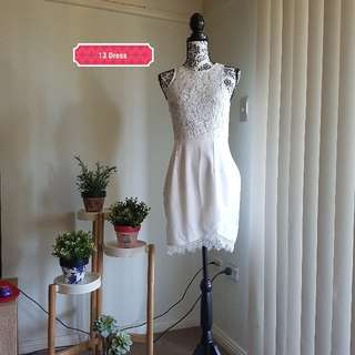 Size 8 white lace dress