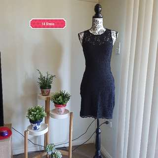 Size small black lace dress