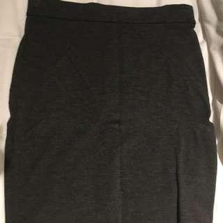 Simple grey Work skirt
