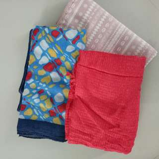 3 shawl/ jilbab only 27k