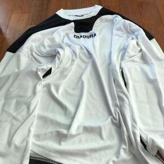 AUTHENTIC DIADORA MEN'S Goalkeeper Jersey with Forearm pad WHITE size M
