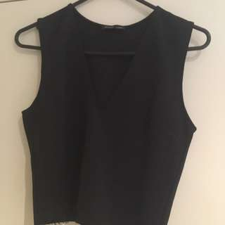 Zara V-neck Crop Top