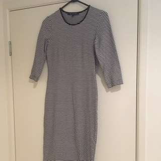 French Connection Stripped Midi Dress