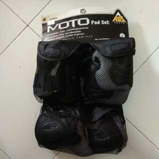 Wristguard kneepad elbowpad Moto Pad Set