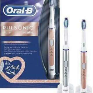 Electronic toothbrush in pink