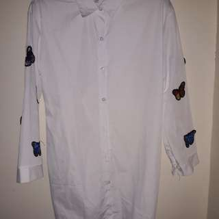 White dress/ S-M/ masikip sa akin kya ibenta q nlng. Never been used.