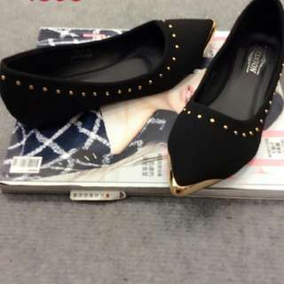 黑色娃娃鞋23.5