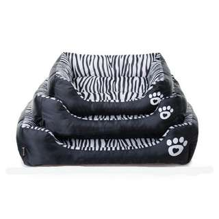 Pet soft zebra cushion bedding