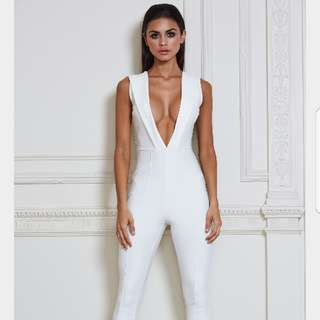 Meshki White Jumpsuit