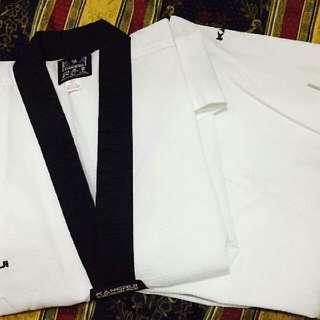 Black collar Taekwondo uniform #09399484739