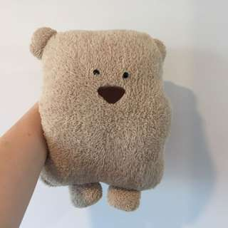 Teddy bear plushie + hand warmer + blanket