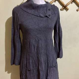 🌈Gray Knit dress lakas maka-korean