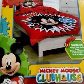 Boys Disney Junior MICKEY MOUSE CLUBHOUSE Single Quilt Cover Set
