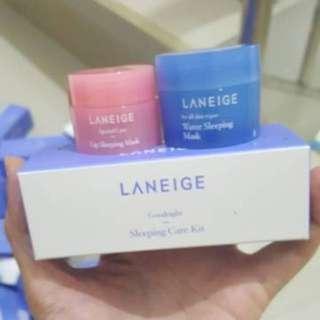 laneige good night sleeping care kit (2pcs