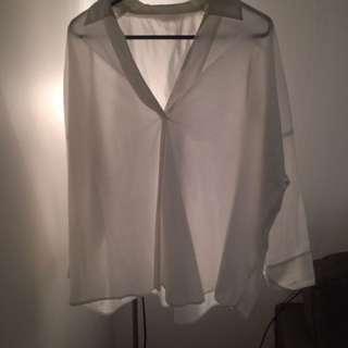 Topshop origami white shirt