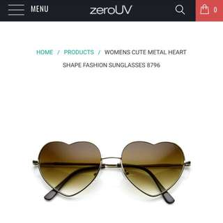 ZeroUV Heart Shape Sunnies