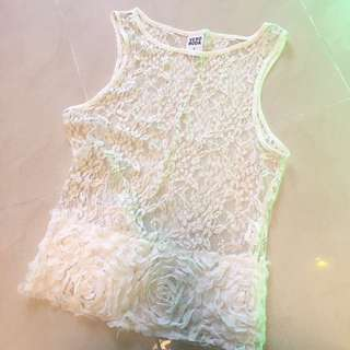 外國品牌 Vera moda Lace 碎花背心