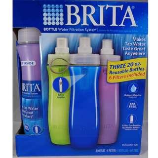 Brita Bottle Water Filtration System ~ Three 20oz Reusable Sports Manila Philippines emergency survival