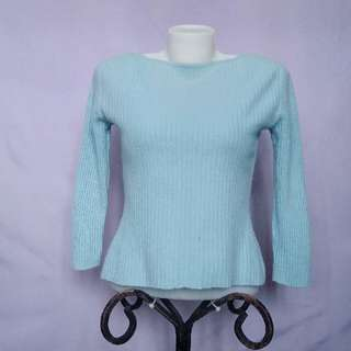 Light Blue Knitted Sweater