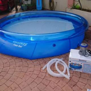 Like new inflatable pool imported