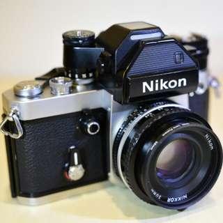 尼康 Nikon F2 Photomic-S 底片相機 DP-2測光表+50mm鏡頭