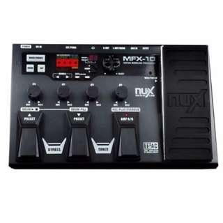 NUX MFX-10 Multi-Effects Processor Guitar Pedal