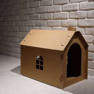 """Chimney"" Cat Corrugated Board House"