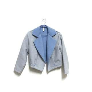 韓版灰藍氣質外套