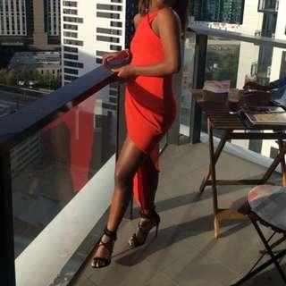 Red/Orange Formal Dress