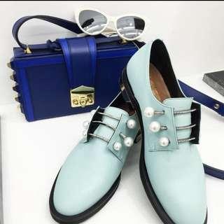 9/24降價❤️部落客指定款💕歐洲「coliac」超火珍珠牛津鞋