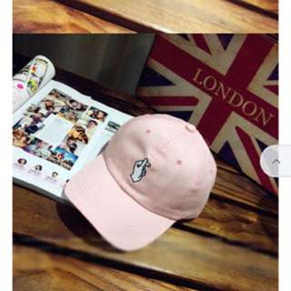 Pink Korean Style Snapping Hand Baseball Cap
