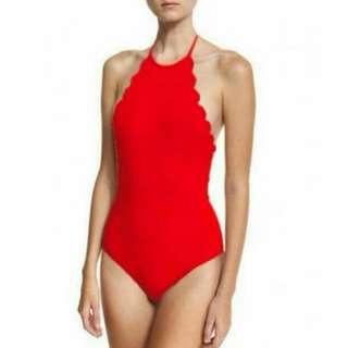 Red Halter Swimsuit