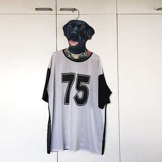 Topshop Netted Jersey Top