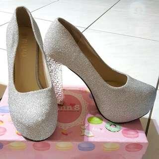 🚚 👠超美婚禮拍照 厚底亮晶晶高跟鞋