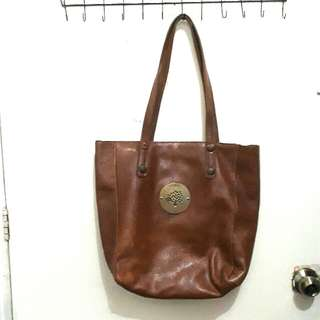 Authentic Mulberry Leather Tote Shoulder Bag